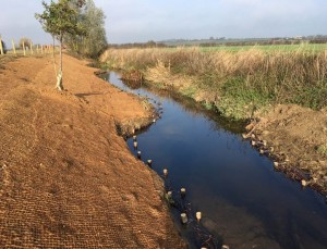 Post project canalised section