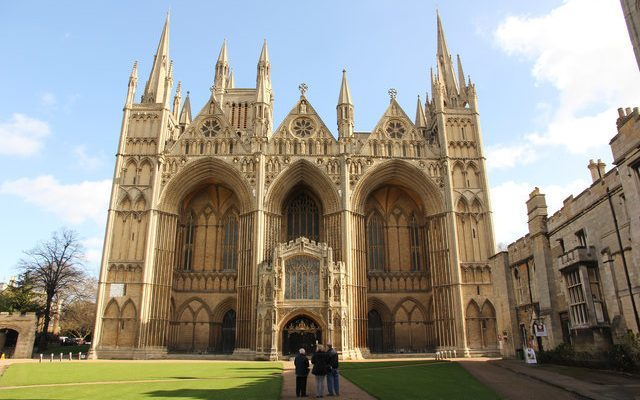 Stone from the Welland Valley was used to build Peterborough Cathedral.