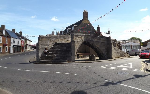 Trinity Bridge in Crowland used to span a confluence of the Welland.